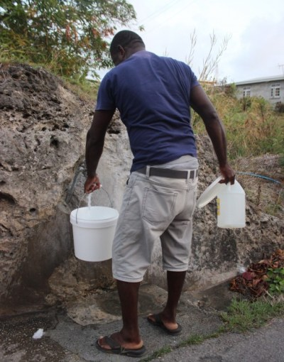 With the water situation as it is, this resident has been making regular trips to the standpipe.