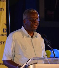 Freundel Stuart addressing DLP conference