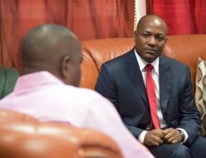 Brian Lara meeting with Roosevelt Skerrit