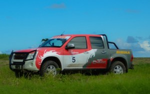 MudDogs winners Leslie Alleyne and Chris O'Neal in their Isuzu D-Max on Sunday.