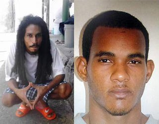 Prison escapees Steve Mc Gilvery and Leroy Mohammed.