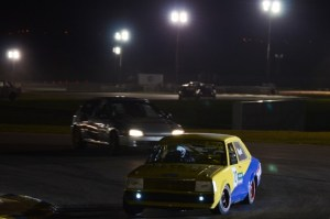 Action under the lights at Bushy Park. (Picture by Corey Reece)