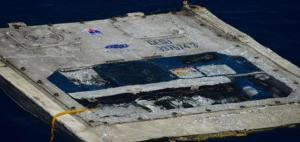 Debris seen in the water from the El Faro search area in this handout photo provided by the US Coast Guard, yesterday.