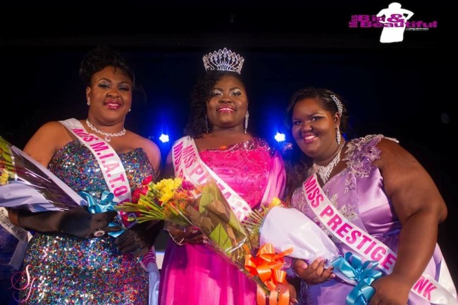 From left, first runner-up Keyla Waithe, winner Keisha Gay and second runner-up Kimelle Bradshaw.