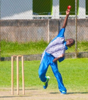 Jaiden Merritt captured a five- wicket haul with his medium pace. (Pictures by Morissa Lindsay)