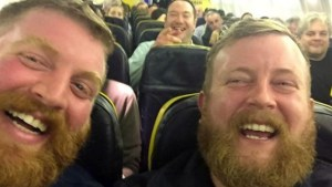 Neil Thomas Douglas (right) met his doppelganger  on a flight to Galway.