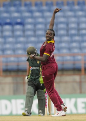 Shamilia Connell conceded a mere 10 runs in her four overs and captured a wicket.