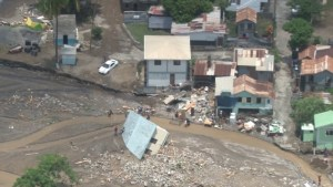 Damage in Dominica from Tropical Storm Erika.
