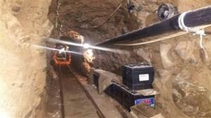 This photo released by Mexico's Federal Police yesterday shows an underground tunnel that police say was built to smuggle drugs from Tijuana, Mexico to San Diego in the United States.