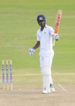 Captain Kraigg Brathwaite completed his 14th first-class century today.