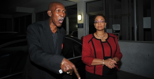 Attorney Hal Gollop, left, and Dr Maria Agard, right.