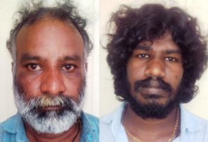 Sandeep Gangadharaiah (left) and Krishna Chennai Madras.