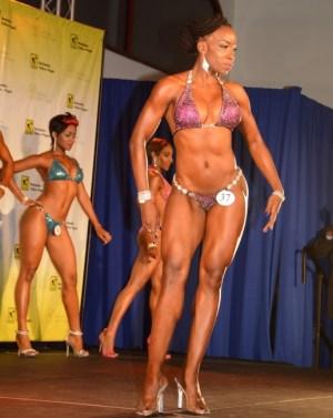 Shakira Doughlin took the bikini fitness title.