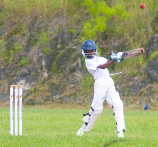 St Cyprian's all-rounder Myles Alleyne goes big during his 21 not out. (Pictures by Morissa Lindsay)