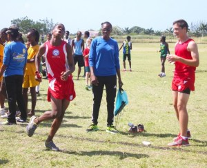 Ethan Bryan anchored Queen's  College to victory in the under-15 boys. (Pictures by Morissa Lindsay)