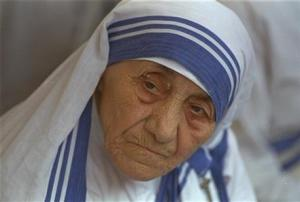 In this August 25, 1993 file photo Mother Teresa, head of Missionaries of Charity, is photographed, in New Delhi, India.