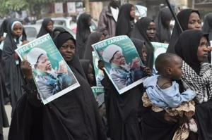 Nigeria Shiite Muslims took to the street to protest and demanded the release of Shiite leader Ibraheem Zakzaky in Kano, Nigeria, on Monday.