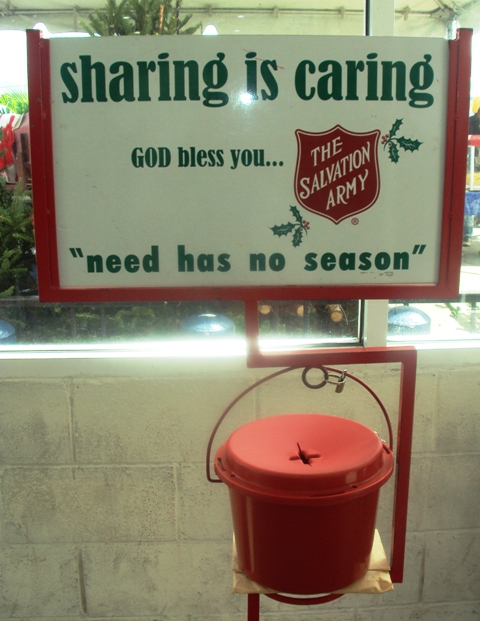 Salvation Army Kettle Message