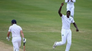 West Indies' captain Jason Holder (right) will be hoping for early wickets against Australia.