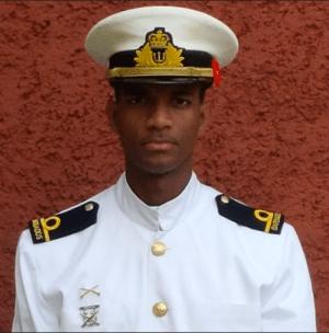 Acting Sub Lieutenant  Chrispen Hackett.