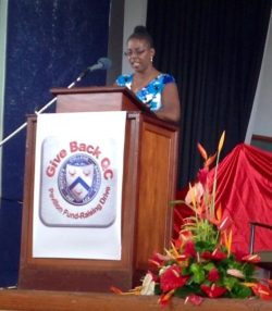 Vivian-Anne Gittens, Give Back QC Charity chairperson.