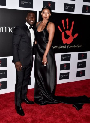 Kevin Hart and Eniko Parrish.