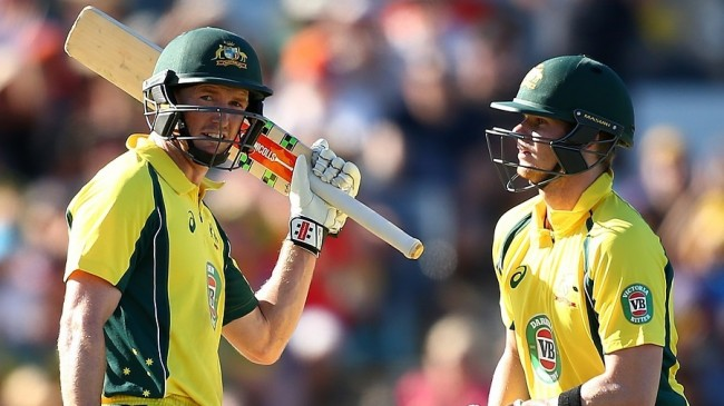 George Bailey (l) and Steve Smith both scored centuries as they led Australia to a win.