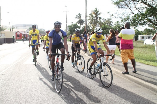 National cyclists were a part of yesterday's celebration.