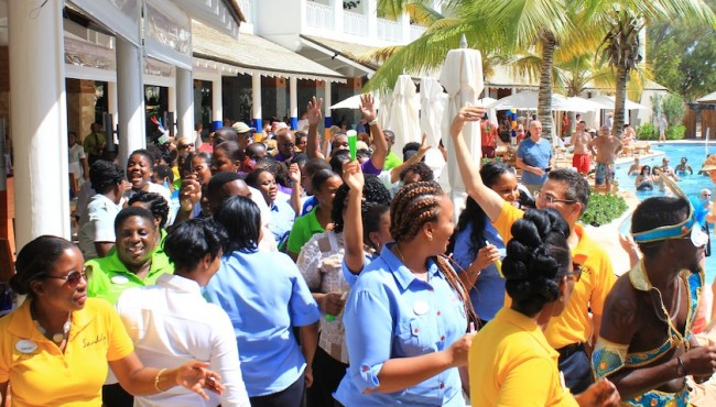 It was a day of enjoyment for Sandals Barbados staff and guests as they celebrated the hotel's first-year anniversary on the island.