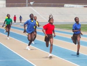JA Quaelah Mounter-Clarke of Red House won the under-13 girls 100m.