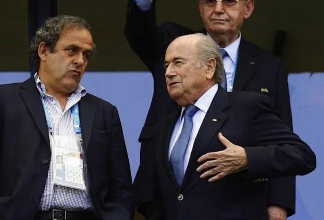 Michel Platini (l) and Sepp Blatter