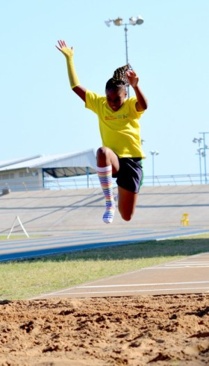 Rajanni Devonish-Cummings in her final attempt of the day managed 4th in the Girls U-11 Long Jump with a distance of 2.5m