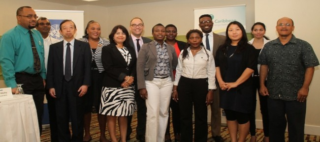 Some of the participants in the Japan-Caribbean Climate Change Partnership Project.