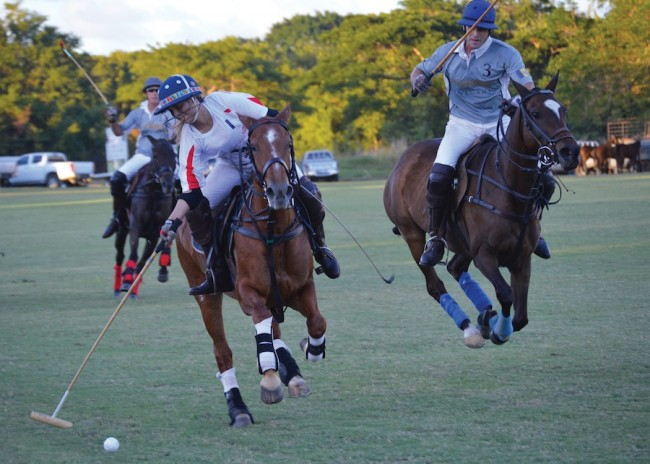 The men and women will battle against each other in polo this Sunday.