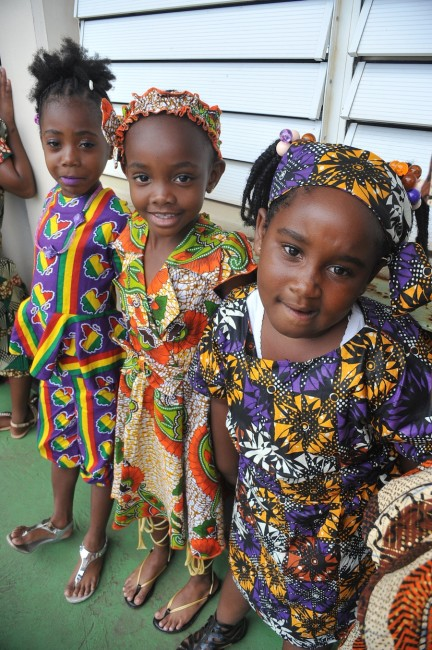 Reception students rocking their African attire.