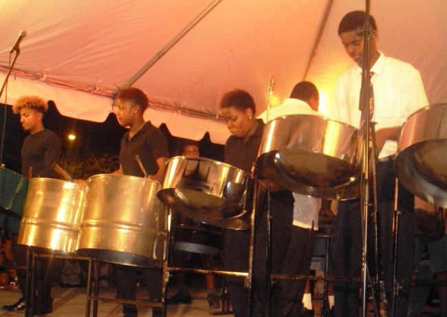 Daryl Jordan Secondary School Steel Band excite with eclectic selection