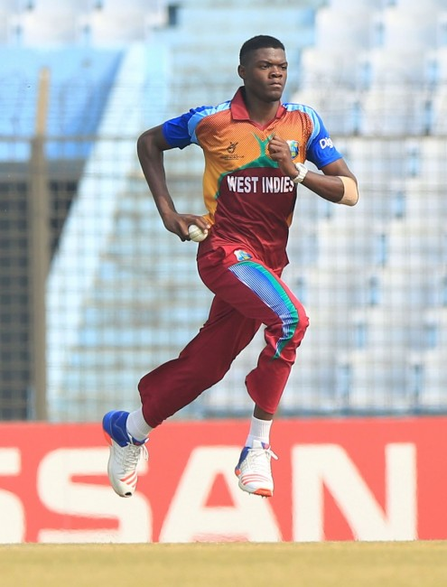 Fast bowler Alzarri Joseph was named Man of the Match for his four-wicket burst.