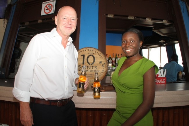 Owner of 10 Saints Glyn Partridge and his new business partner Liesl Best.