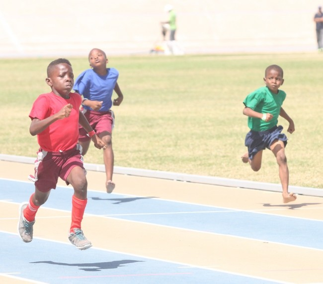 Victor ludorum Malique Aimey of Red House out-paced the competition  in the under-nine boys 150m.