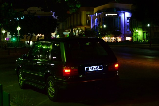 The Glo licence plate provides for clear visibility at night.