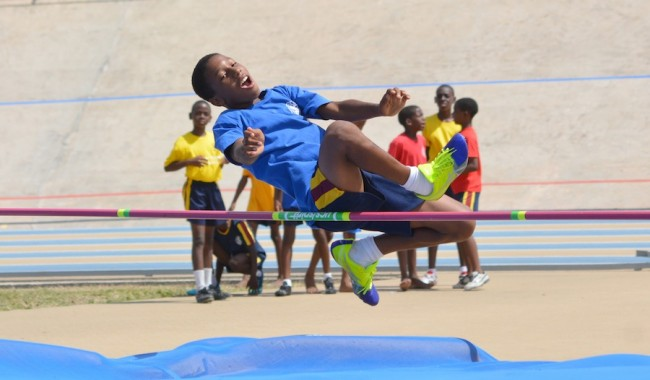 Aydan Auguste smashed the U13 boys' 400m record but no such luck in the high jump.