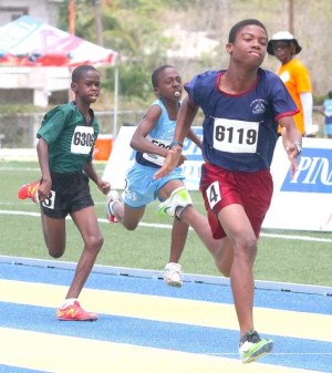 Chaz Searles of St Stephen's Primary won both the 100m and 200m and will be a force to reckon with at the NAPSAC finals