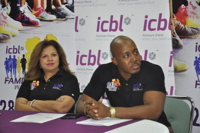 ICBL managing director and CEO Ingrid Innes and corporate communications specialist Randy Howard at the Family Run And Walk launch yesterday.