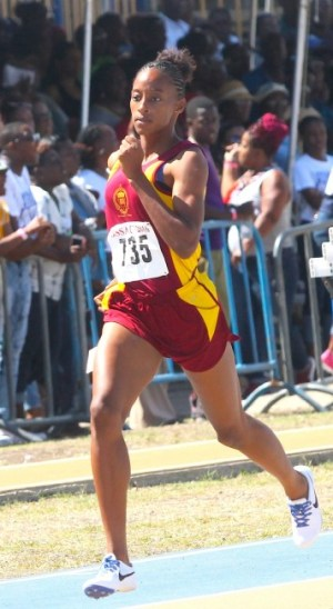Harrison College's Sada Williams saved the best for last when she dismissed the under-20  girls 400m field.