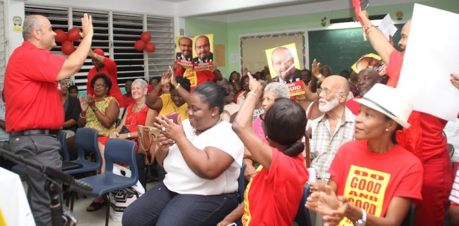 Tonight's nomination was warmly received by BLP faithfuls.