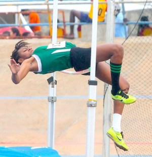 Lagina Colucci of The Lester Vaughan School won the under-15 girls high jump going over the bar at 1.47m.