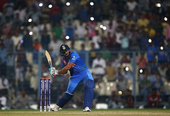 Rohit Sharma blasted a quick-fire unbeaten 98.