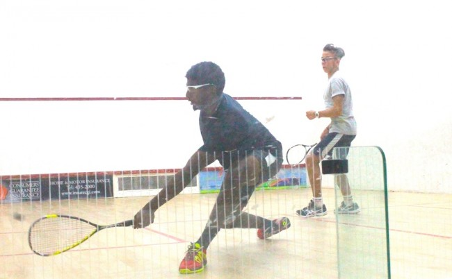 Zachary Proverbs-Harris won in straight sets against Christian Armstrong in the under-19 Classic Plate showdown.
