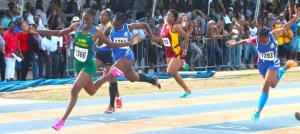 Keira Forde-Richards of the St Michael School displayed explosive speed as she blazed down the track to win the under-20 girls 100m. (Picture by Morissa Lindsay)