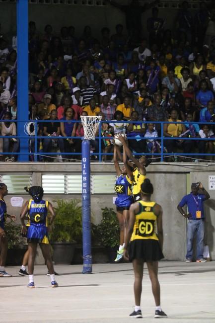 BarbadosXgoal-keeperXSheridanXStraughnXhadXaXtoughXtaskXkeepingXXJamaicaXgoal-shootXLoriXDaleyXquiet.